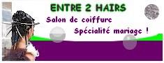 Entreprise : salon de coiffure spécialisé dans les coiffures de mariage